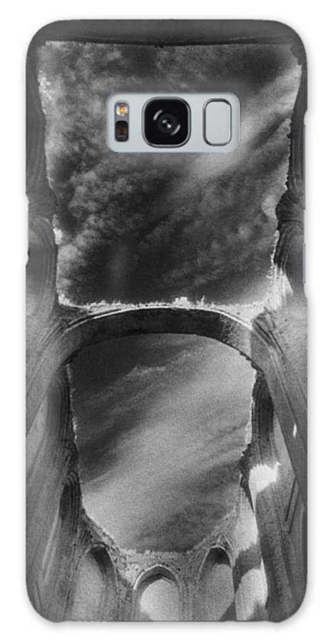 Castle; Ruin; Ruins; Gothic German Architecture; Arcade; Windows; Sky; Atmospheric; Abbey Church; Column; Shadow Galaxy S8 Case featuring the photograph Chapel At Schloss Dargun by Simon Marsden