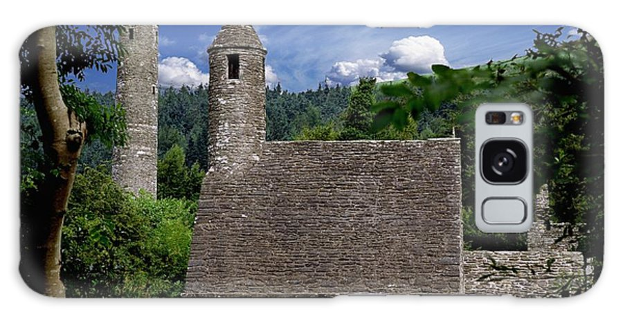Architectural Exterior Galaxy S8 Case featuring the photograph Chapel Of Saint Kevin At Glendalough by The Irish Image Collection