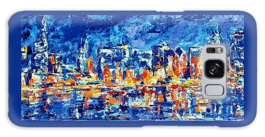 Chicago Galaxy S8 Case featuring the painting Chicago Lake Front by Kat Griffin