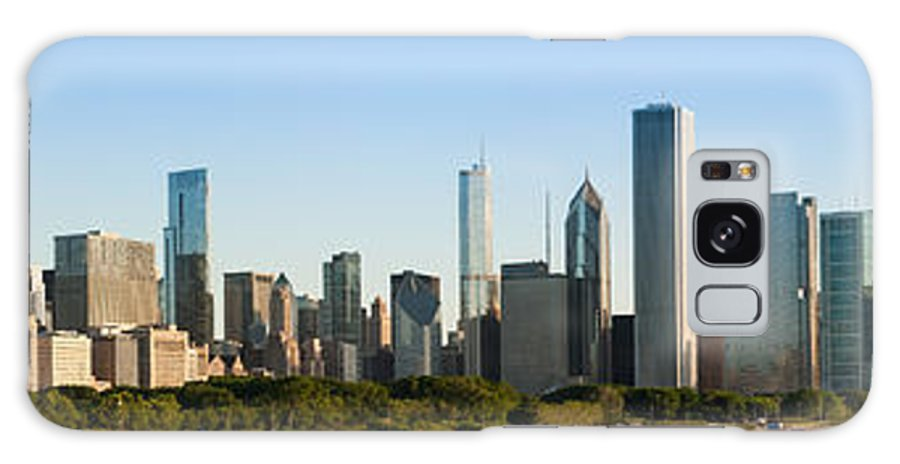 Chicago Skyline Galaxy S8 Case featuring the photograph Chicago Skyline At Sunrise by Semmick Photo