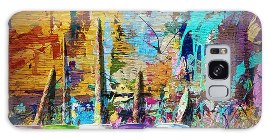 Art Galaxy S8 Case featuring the photograph Child's Painting Easel by Randall Nyhof