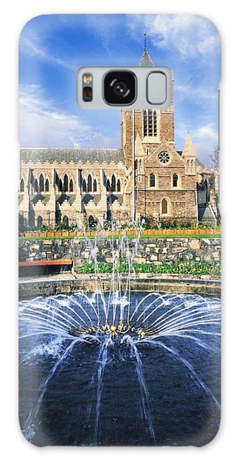 Blue Sky Galaxy S8 Case featuring the photograph Christ Church Cathedral, Synod Hall by The Irish Image Collection