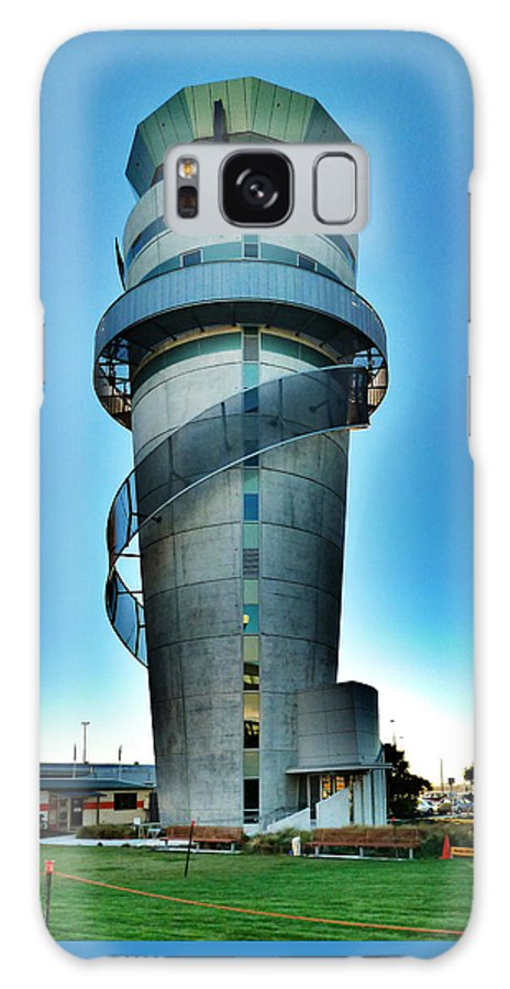 Control Galaxy S8 Case featuring the photograph Christchurch Airport's Control Tower by Steve Taylor