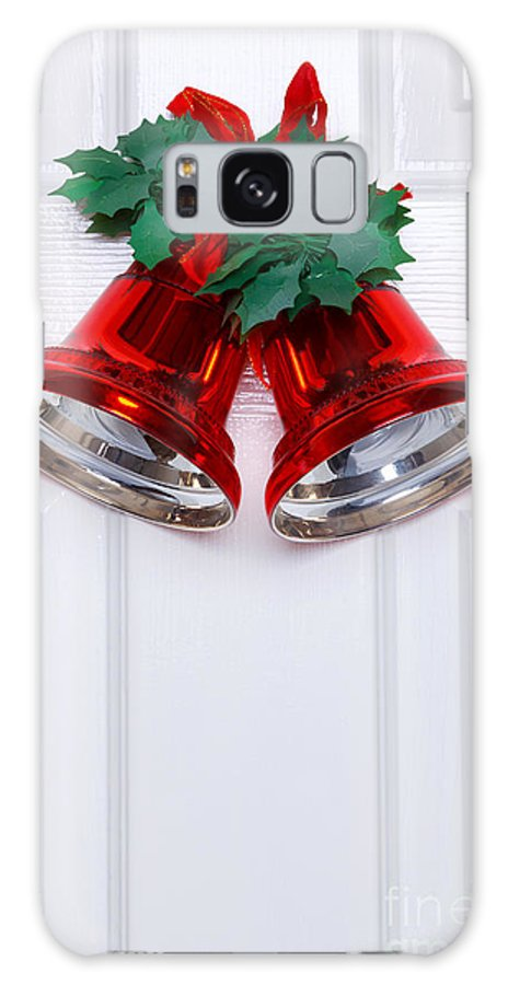 Christmas Galaxy S8 Case featuring the photograph Christmas Bells On A White Door by Richard Thomas