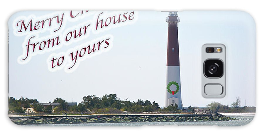 Christmas Galaxy S8 Case featuring the photograph Christmas Lighthouse Card - From Our House To Yours Card by Mother Nature