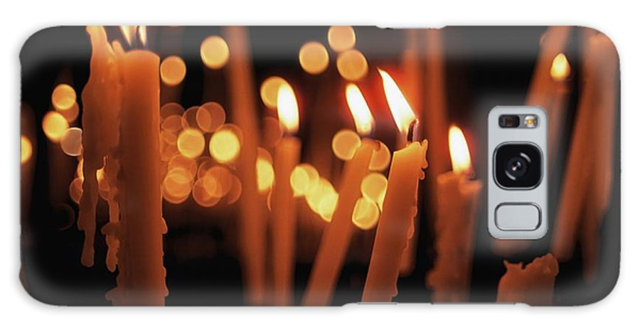 Candlelight Galaxy S8 Case featuring the photograph Church Candles by The Irish Image Collection