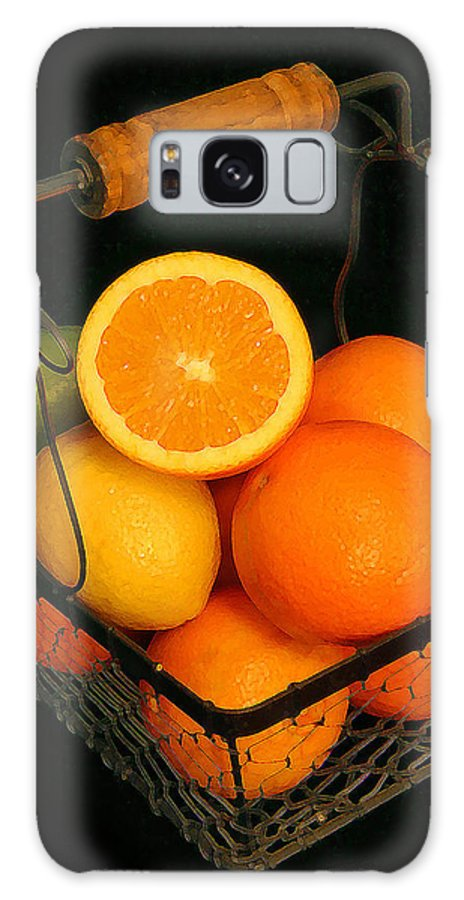 Citrus Galaxy S8 Case featuring the photograph Citrus Fruit Basket by Cindy Haggerty