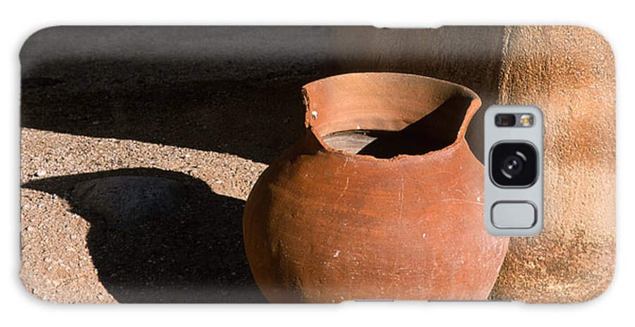 Mexican Pottery Galaxy S8 Case featuring the photograph Clay Pot And Shadow by Sandra Bronstein