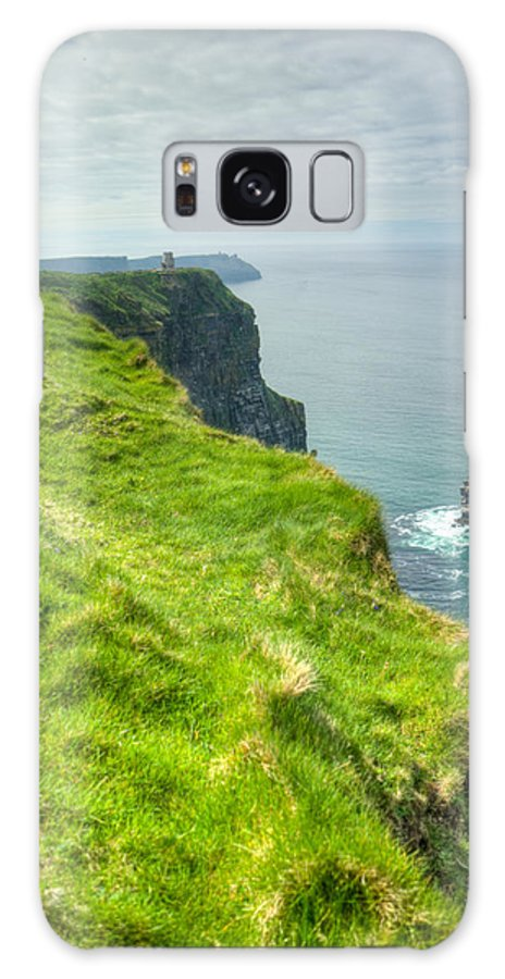 Cliffs Galaxy S8 Case featuring the photograph Cliff Of Moher 25 by Douglas Barnett