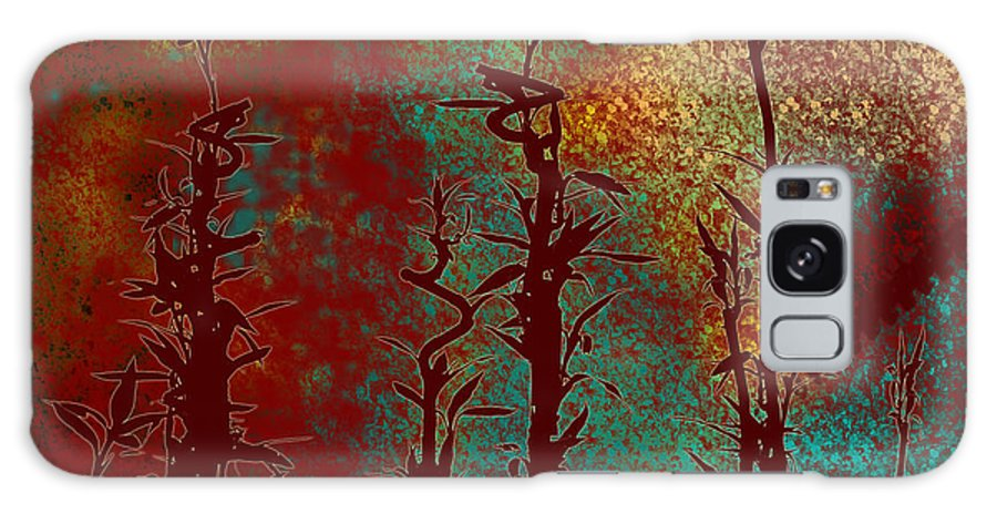 Abstracts Galaxy S8 Case featuring the digital art Climbing Unknown Horizons by Lj Lambert