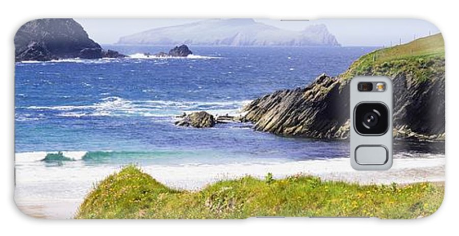 Day Galaxy S8 Case featuring the photograph Clogher Beach, Blasket Islands, Dingle by The Irish Image Collection