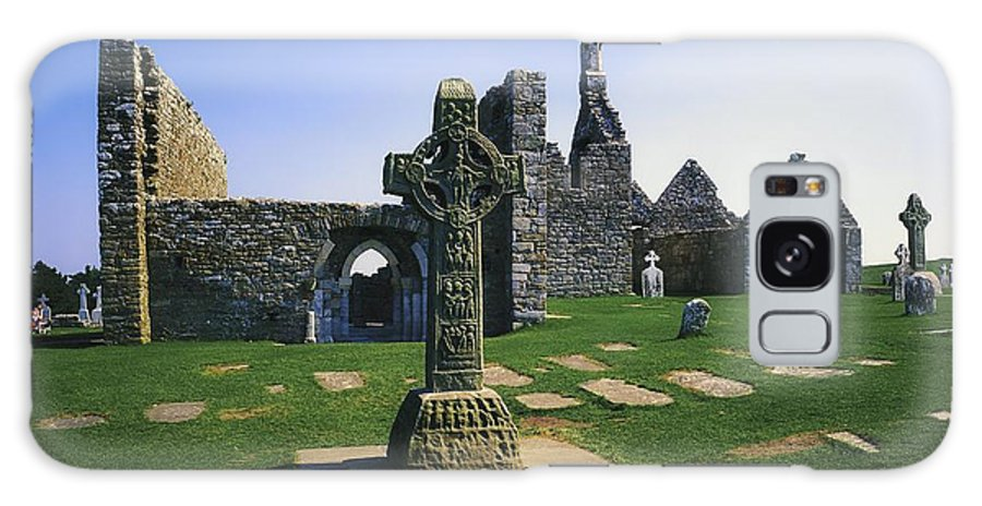 Ancient Civilization Galaxy S8 Case featuring the photograph Clonmacnoise, Co Offaly, Ireland, West by The Irish Image Collection