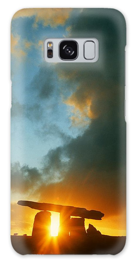 Ancient Civilization Galaxy S8 Case featuring the photograph Clouds Over A Tomb, Poulnabrone Dolmen by The Irish Image Collection