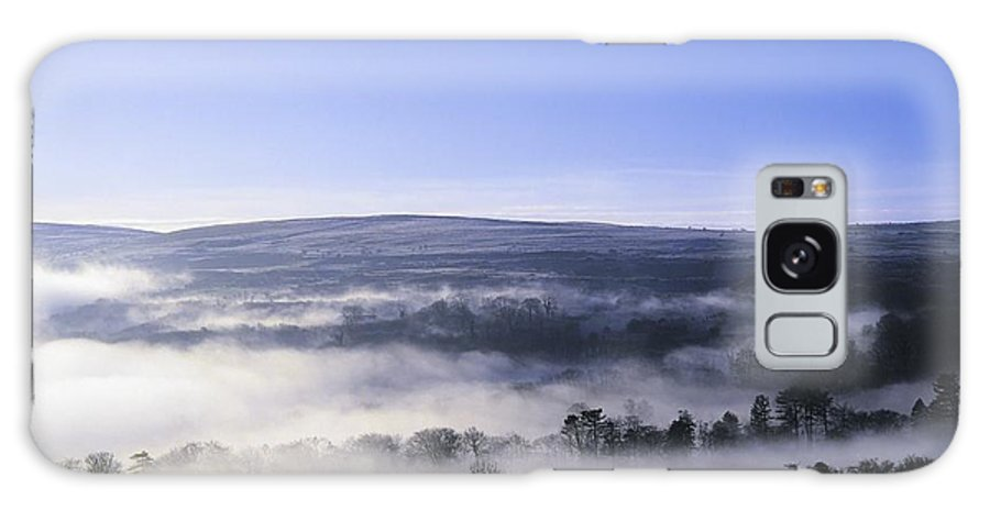Back Lit Galaxy S8 Case featuring the photograph Co Antrim, Ireland Mist Over A Landscape by The Irish Image Collection