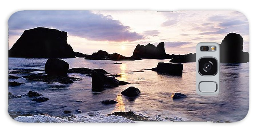 Back Lit Galaxy S8 Case featuring the photograph Co Antrim, Whitepark Bay, Ballintoy by The Irish Image Collection