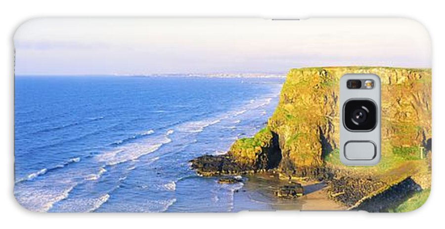 Castlerock Galaxy S8 Case featuring the photograph Co Derry, Ireland View Of Cliffs And by The Irish Image Collection