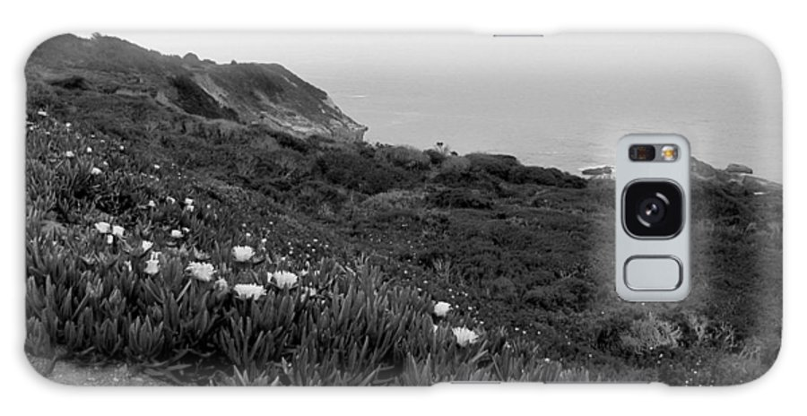 Coast Galaxy S8 Case featuring the photograph Coastal View Mist - Black And White by Kathleen Grace