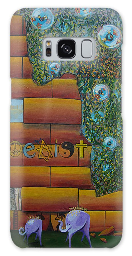 Coexist Galaxy S8 Case featuring the painting Coexist by Mindy Huntress