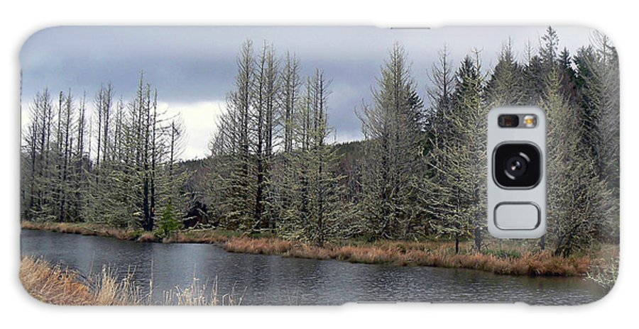 River Galaxy S8 Case featuring the photograph Cold Day On The Nemah River by Pamela Patch