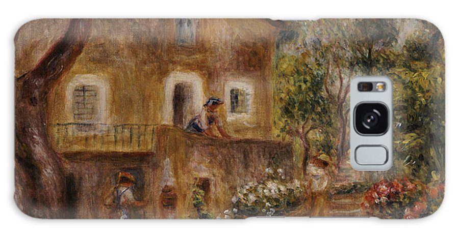 Pierre Auguste Renoir Galaxy S8 Case featuring the painting Collette's House At Cagne by Pierre Auguste Renoir