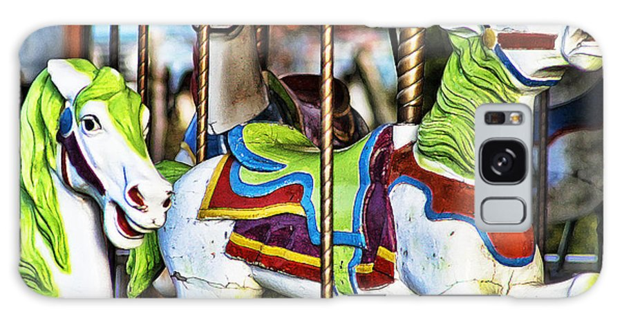 Horses Galaxy S8 Case featuring the photograph Colorful Carousel Horses by Kathy Clark