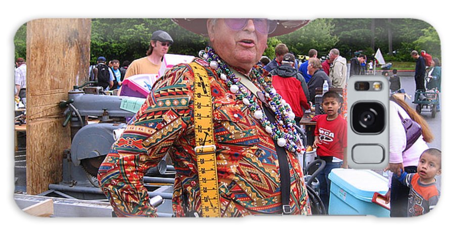 Man Withmexican Hat Galaxy S8 Case featuring the photograph Colorful Man Of The Festival by Kym Backland