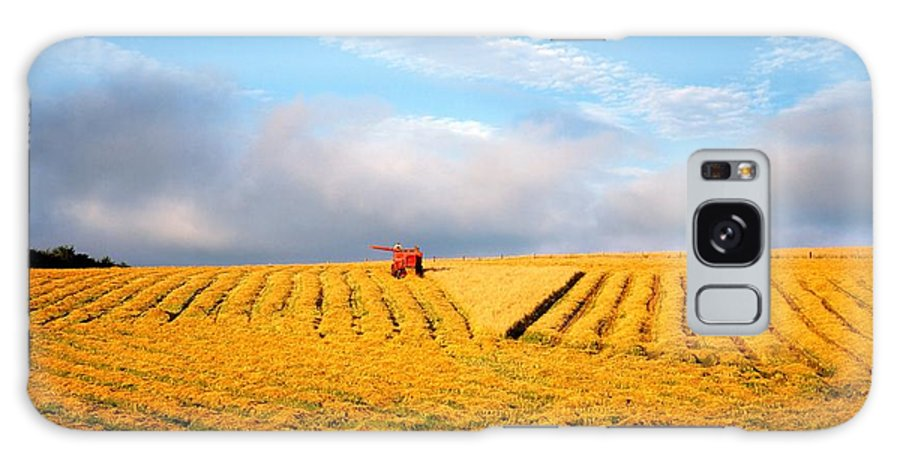 Color Image Galaxy S8 Case featuring the photograph Combine Harvesting, Wheat, Ireland by The Irish Image Collection