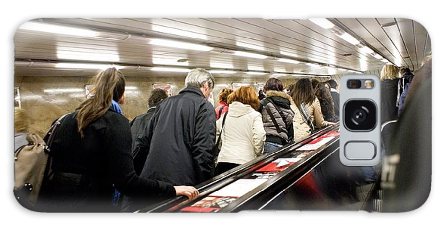 Claustrophobic Galaxy S8 Case featuring the photograph Commuters On Escalators In Prague Metro by Mark Williamson