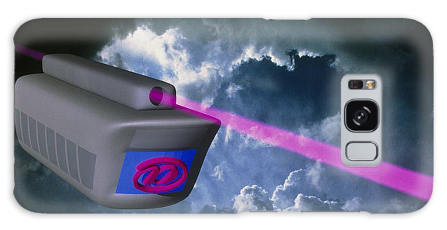 Train Galaxy S8 Case featuring the photograph Computer Artwork Of E-mail Train On Superhighway by Laguna Design