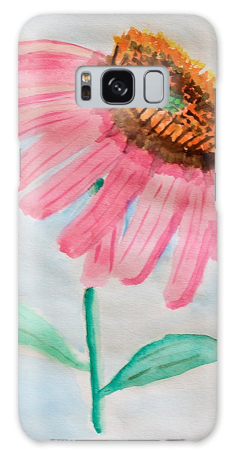 Coneflower Galaxy S8 Case featuring the painting Coneflower - Watercolor by Heidi Smith
