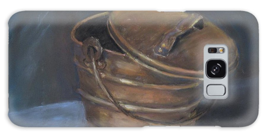 Still Life Galaxy S8 Case featuring the painting Copper Bucket by Elizabeth Ellis