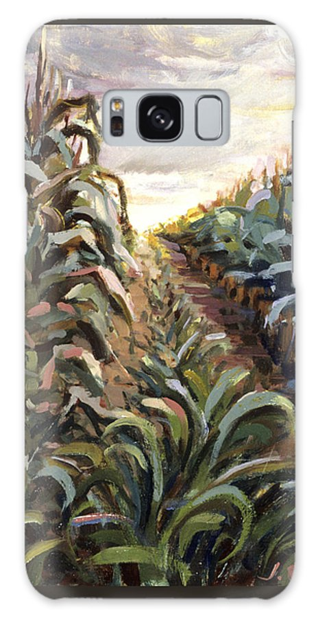 Cornfield Galaxy S8 Case featuring the painting Cornfield by Jane Oriel