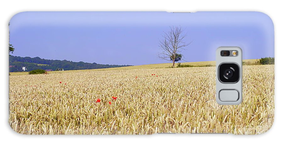 Cornfield Galaxy S8 Case featuring the photograph Cornfield With Poppies by John Chatterley