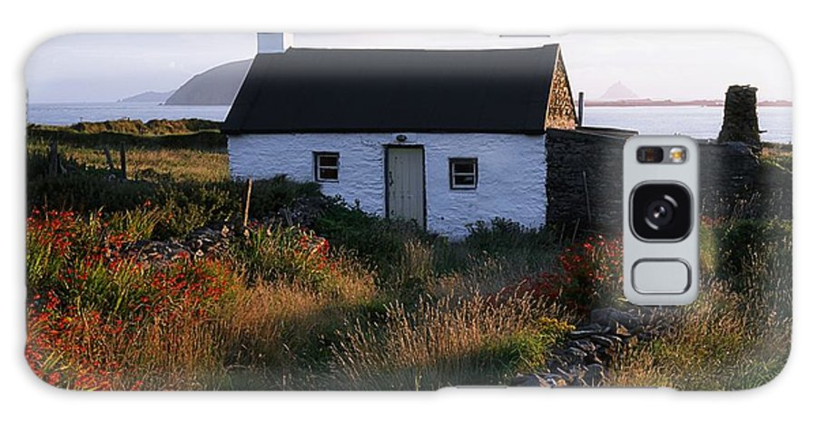 Blooming Galaxy S8 Case featuring the photograph Cottage, Near Dunquin, Dingle by The Irish Image Collection