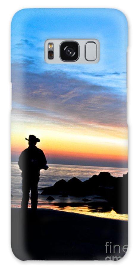 Jersey Shore Galaxy S8 Case featuring the digital art Cowboy Sunrise by Danielle Summa
