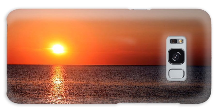 Sunset Galaxy S8 Case featuring the photograph Crimson Sunset by Christopher Hignite