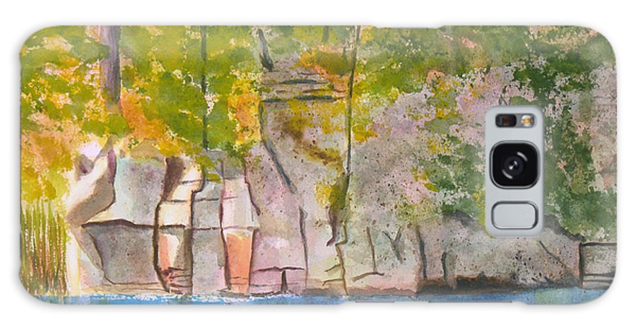 St Lawrence River Galaxy S8 Case featuring the painting Crooked Creek 1 by Robert P Hedden