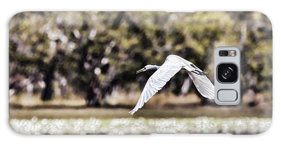 Egret Galaxy S8 Case featuring the photograph Crossing The Billabong by Douglas Barnard