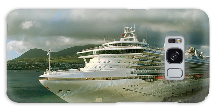Grand Princess Galaxy S8 Case featuring the photograph Cruise Ship In Port by Gary Wonning