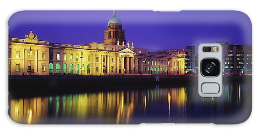 Blue Sky Galaxy S8 Case featuring the photograph Custom House, Dublin, Co Dublin by The Irish Image Collection