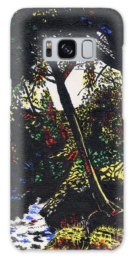 Cwm Mynach Farm Boundary Brook Galaxy S8 Case featuring the painting Cwm Mynach Farm Boundary Brook by Edward McNaught-Davis