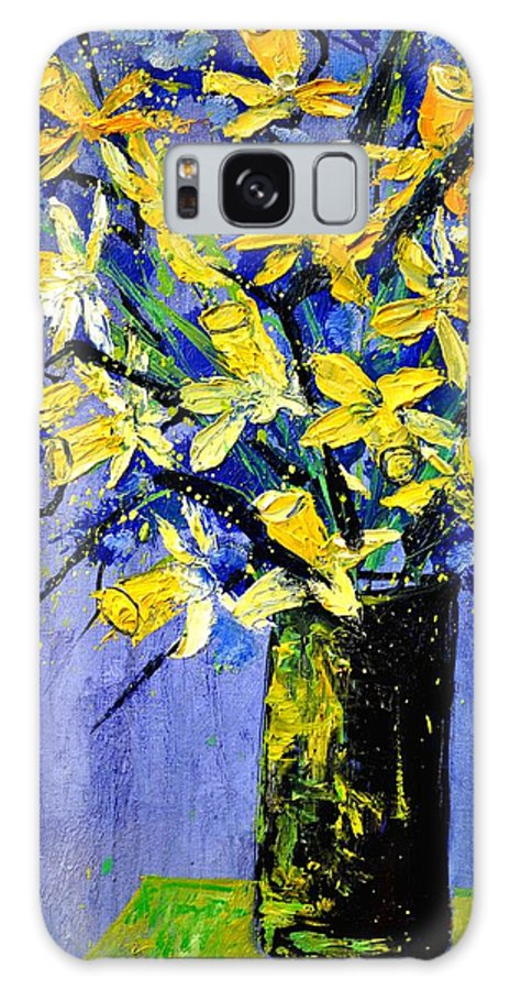 Flowers Galaxy S8 Case featuring the painting Daffodils by Pol Ledent