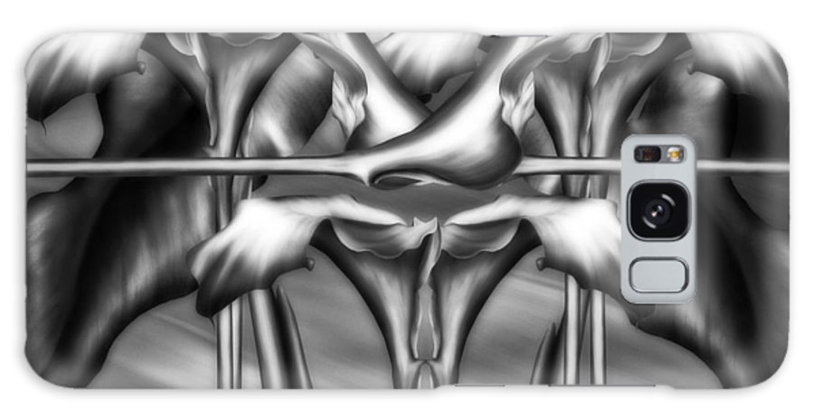 Abstract Realism Galaxy S8 Case featuring the digital art Dance Of The Black And White Calla Lilies Vi by Georgiana Romanovna