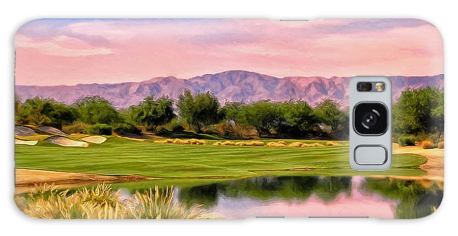 Dawn Galaxy S8 Case featuring the painting Dawn On The Golf Course by Dominic Piperata