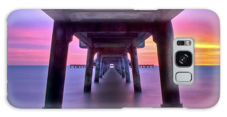 Pier Galaxy S8 Case featuring the photograph Deal Pier At Sunrise by Alice Gosling