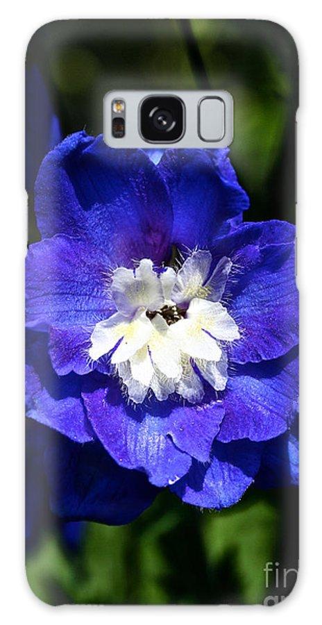 Garden Galaxy S8 Case featuring the photograph Delphinium Face by Susan Herber