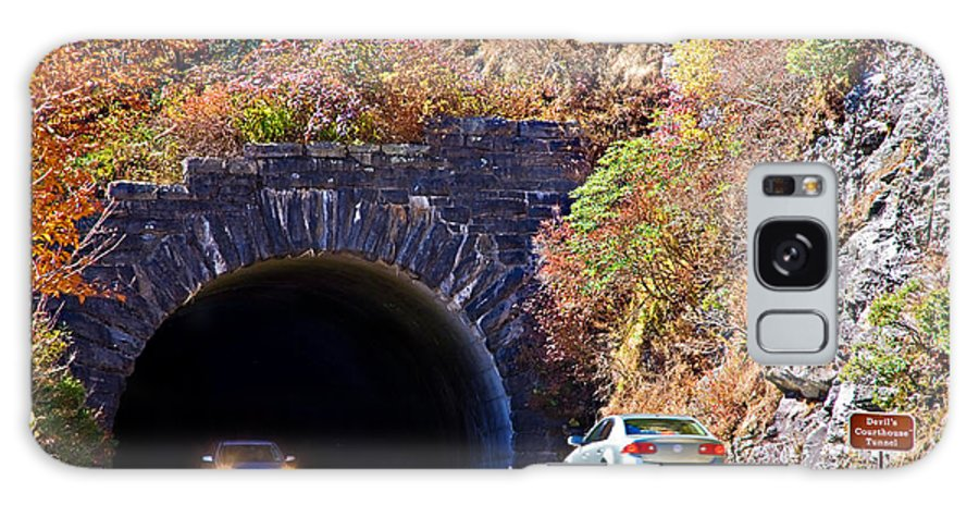 Cars Galaxy S8 Case featuring the photograph Devil's Courthouse Tunnel by Susan Leggett