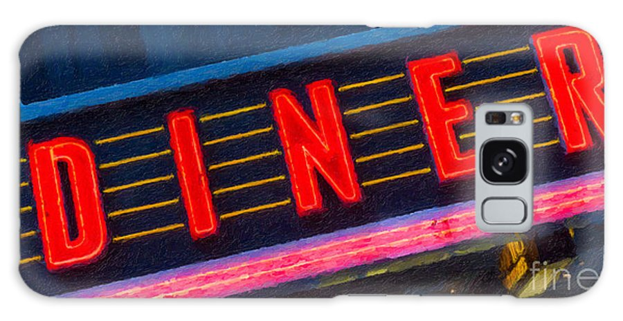 Clarence Holmes Galaxy S8 Case featuring the photograph Diner Sign In Neon by Clarence Holmes