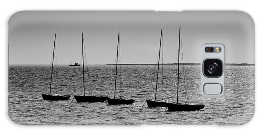 Dinghie Galaxy S8 Case featuring the photograph Dinghies Moored Off Of Leigh On Sea Essex by David Pyatt