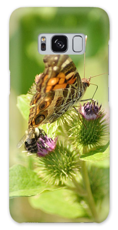 Butterfly Galaxy S8 Case featuring the photograph Dinner Date by Bill Cannon